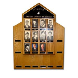 Plaque des présidents