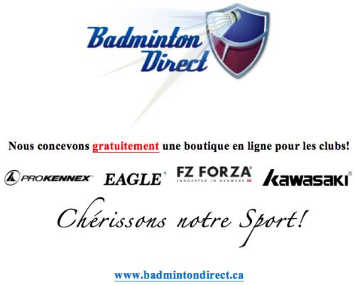 Badminton Direct annonce